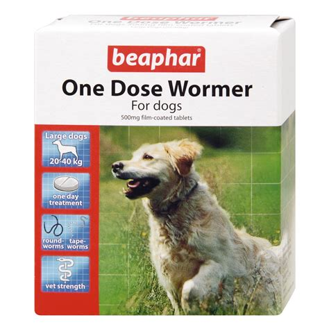 wormer for dogs buy beaphar one dose wormer for dogs 4 tablet pack