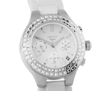 Dkny Dk03 White Silver dkny s 38mm chambers multifunction white