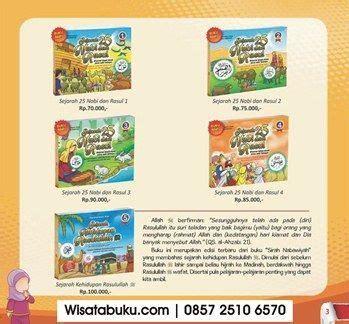 Buku Anak Rakyat Seri Nabi kisah 25 nabi dan rasul untuk anak islam perisai quran