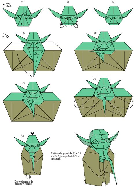 Origami Finger Puppets - how to make an origami yoda walauwei