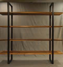 floating bookcases floating walnut and steel bookcase modern bookcases