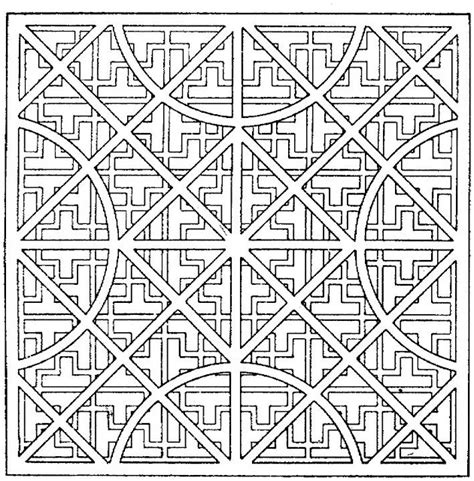 coloring pages adults geometric free coloring pages of adults