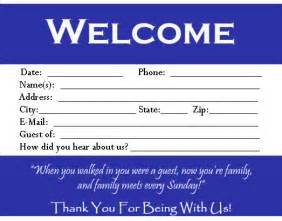 Church Visitor Card Template Word by Visitor Card Template You Can Customize