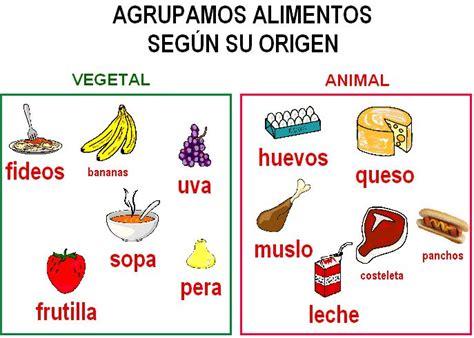maqueta primer grado de los alimentos origen animal y vegetal imagenes de los alimentos segun su origen imagui