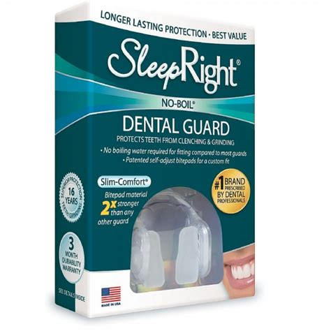 dental comfort sleepright no boil dental guard slim comfort 1 ea
