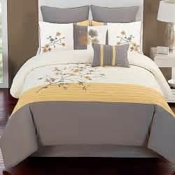 yellow bed set camisha 8 comforter set in yellow grey bed bath