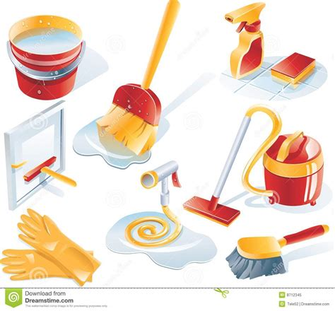Cleaning Set vector cleaning service icon set stock vector illustration of line gloves 8712345