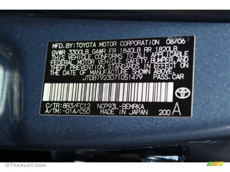 2007 yaris color code 8r3 for pacific blue metallic photo 70325055 gtcarlot