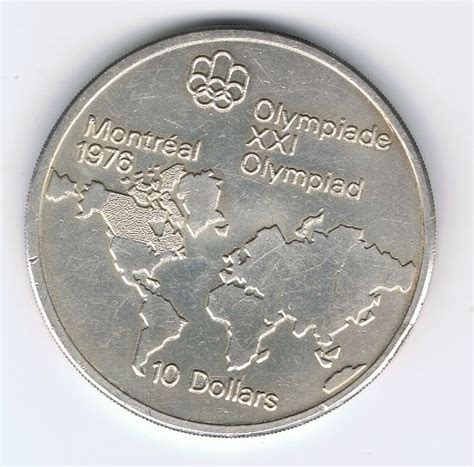 10 Dollar Silver Coin 1976 by Canada 5 10 Dollars 1973 1976 Quot Olympic Quot 3 Coins