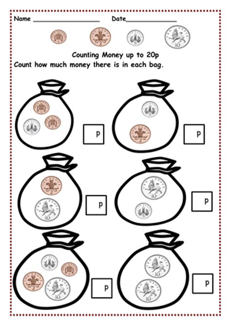 Counting Coins 1 10 Belanbe money counting pennies up to 10p and then 15p 20p 30p