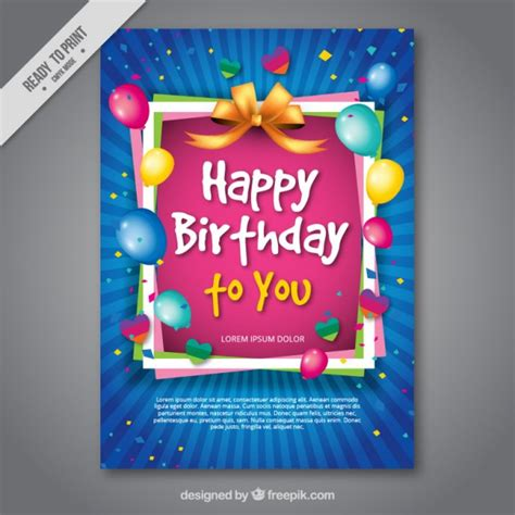 6 year birthday card template birthday vectors photos and psd files free