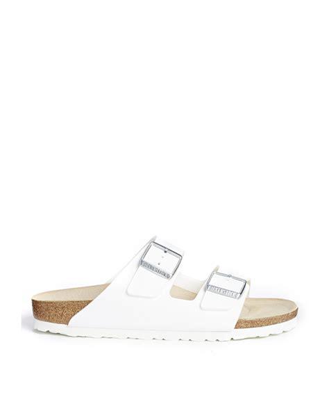 birkenstock white sandals birkenstock arizona white birko flor narrow fit flat
