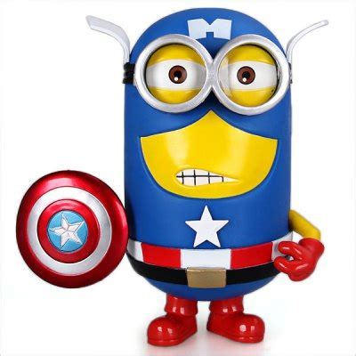 captain america minion wallpaper 20cm simulation the captain of america pvc minions doll