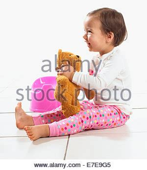 potty training, toddler girl, one only little child sit on