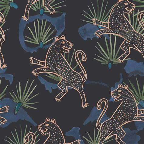 wallpaper these walls leopard palm wallpaper night these walls