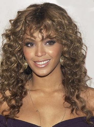 perm with straight fring beyonce s curls and bangs my new hair