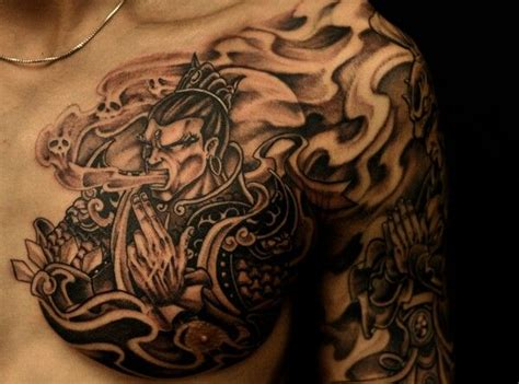 oriental warrior tattoo chinese warrior asian tattoo tattoos pinterest