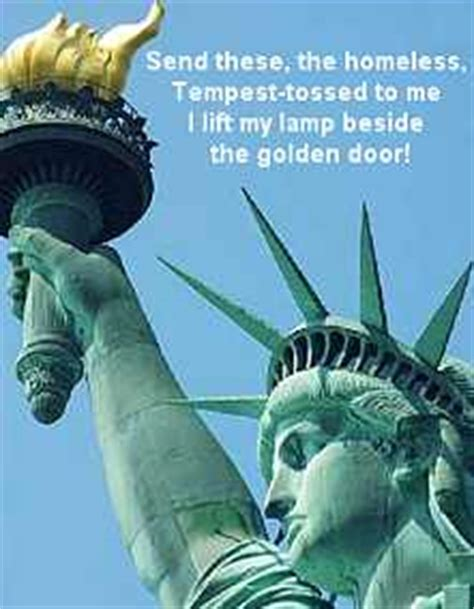 I Lift L Beside The Golden Door by 4th Of July Quotes Song Lyrics Poems For Independence Day