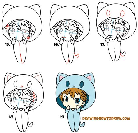 How To Draw A Chibi Boy With Hood On Drawing Cute Chibi How To Draw A Chibi Boy