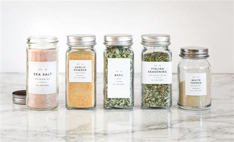 modern spice labels personalization  durable