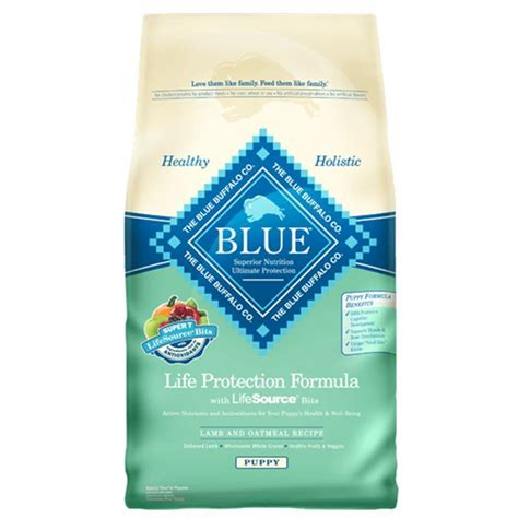 blue puppy food blue buffalo protection formula and oatmeal puppy food
