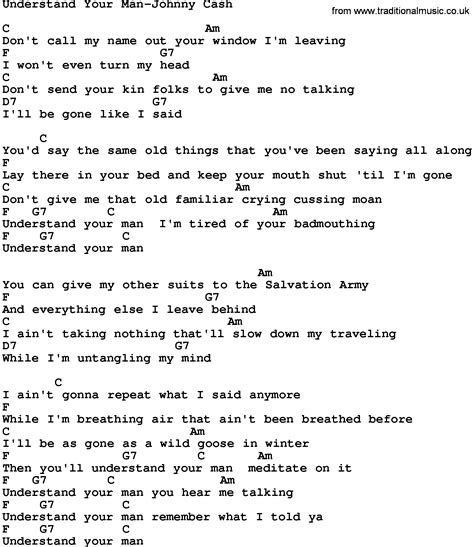 Printable Lyrics When I Was Your Man | country music understand your man johnny cash lyrics and