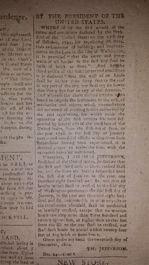 Paper Marlboro Kw justice story s copy of the national intelligencer from