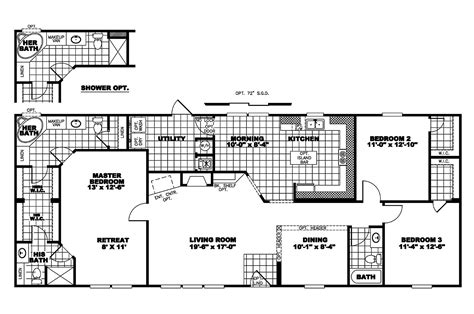 clayton homes floor plans manufactured home floor plan 2006 clayton cumberland 25cmb28683dh06