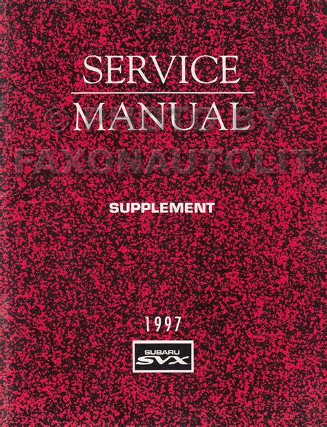 1997 subaru svx repair shop manual supplement original obd ii