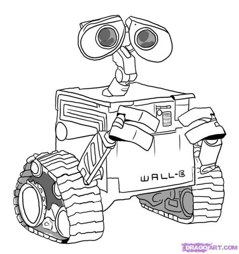 Wall E Coloring Pages by Wall E Pics Coloring Home