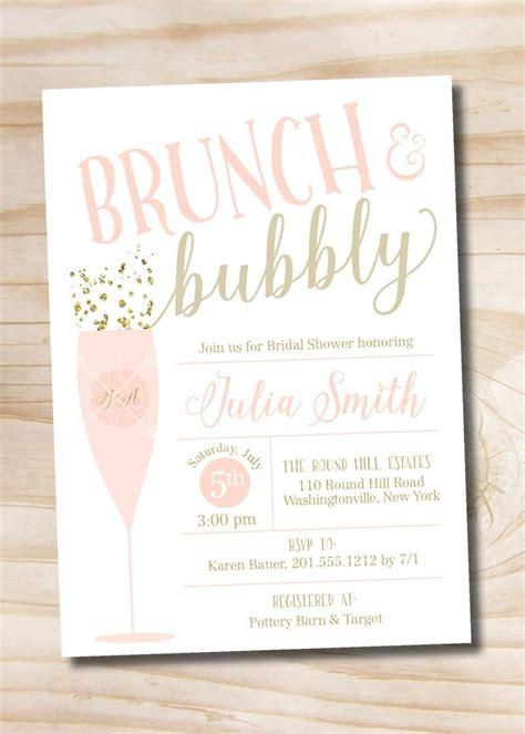 brunch invitation template free brunch and bubbly bridal shower invitation confetti