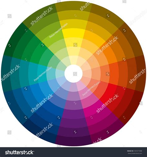 Greenlight Circle Basic by Color Circle Light Twelve Basic Stock Vector