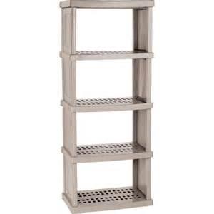 plastic storage shelves walmart storage trends 5 shelf resin storage unit walmart