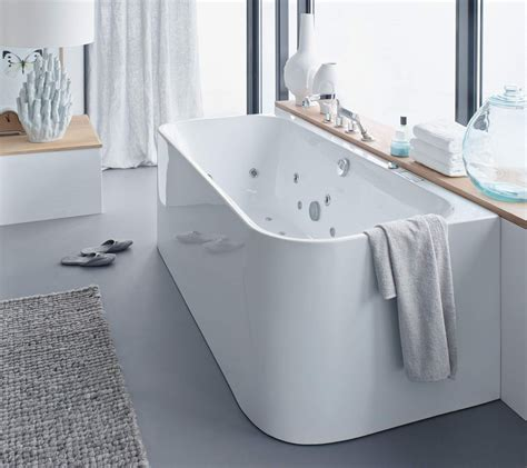 duravit happy d bathtub duravit happy d2 back to wall 1800 x 800mm bath with combi