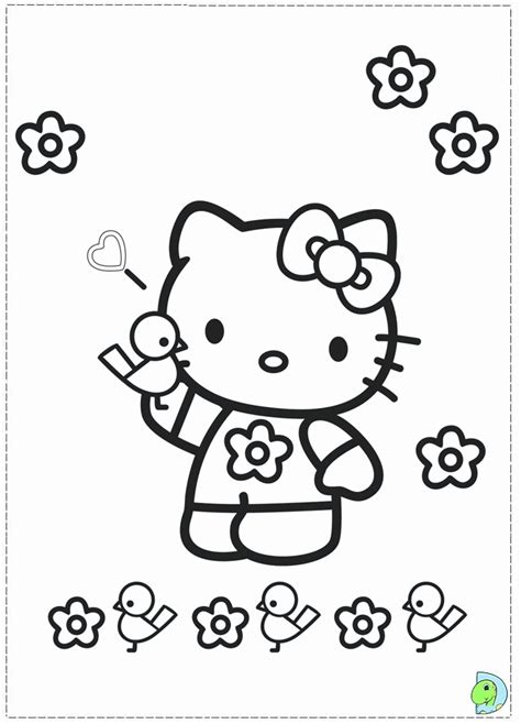 hello kitty with flowers coloring pages flower bird hello kitty coloring pages az coloring pages