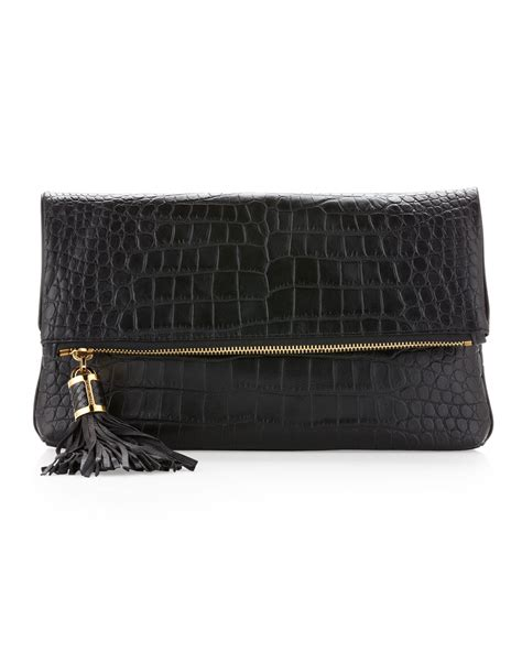 Bag Clutch Bag 9 lyst michael kors large tonne foldover clutch bag in black