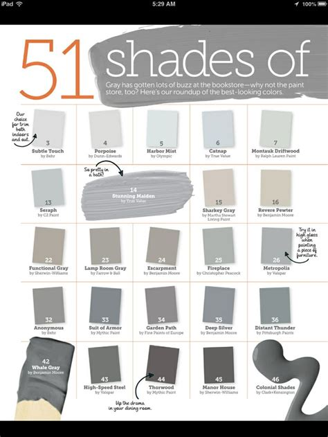 Grey Color Shades | 51 shades of gray paint home sweet home pinterest
