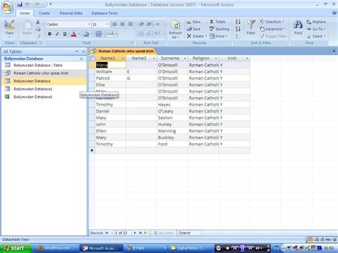 Spreadsheet Query by Microsoft Access Database As An Organisational Tool