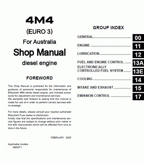 auto repair manual online 1989 mitsubishi truck electronic toll collection mitsubishi fuso 4m4 repair manual trucks buses repair