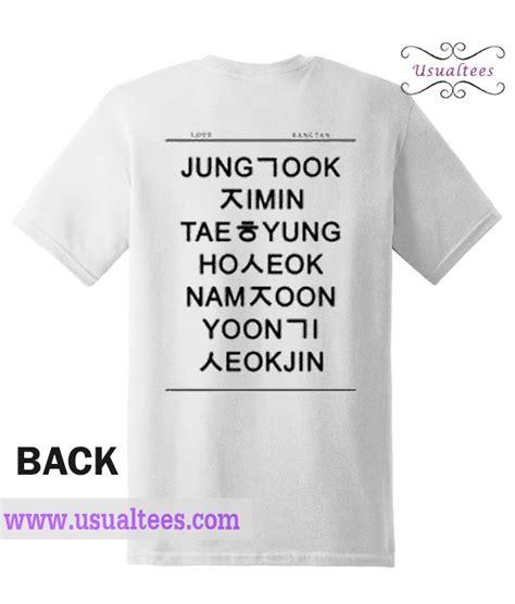 Tsgirt Bts Member bts members namnes in hangul t shirt