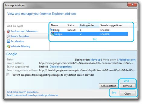 internet explorer search box how to change add remove search box providers on ie 8