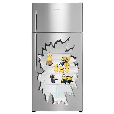 Removable Wall Stickers Ebay minions inside 3d fridge sticker decals 45cm x 65cm many