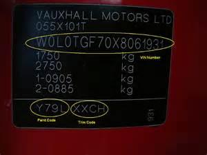 Vauxhall Colour Codes Vauxhall Paint Codes Car Touch Up Paint Car Paint