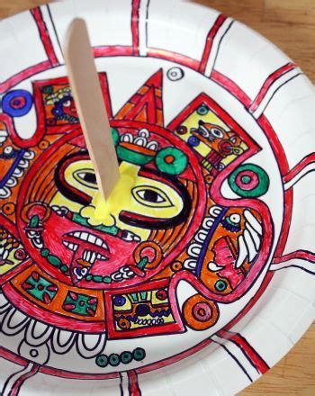 how to make an aztec calendar make an aztec sundial aztec activities and social studies