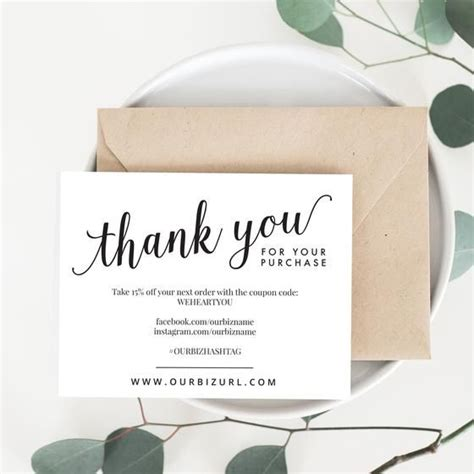 thank you packaging card template best 25 business thank you cards ideas on
