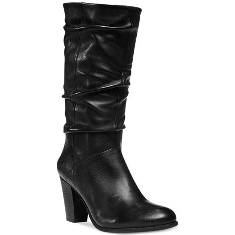 Steve Madden 12 by Lyst Steve Madden Womens Loretta Slouch Boots In Black