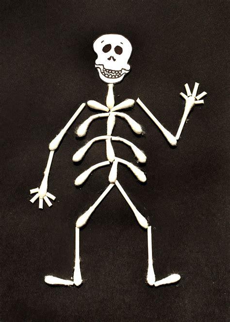 skeleton craft for cotton bud skeleton