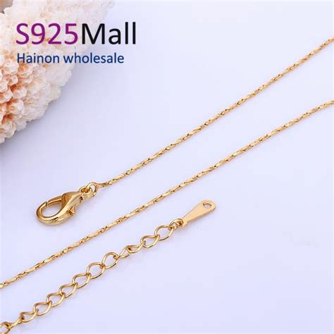 gold jewelry supplies wholesale aliexpress buy 18inch pendant necklace chain 45cm