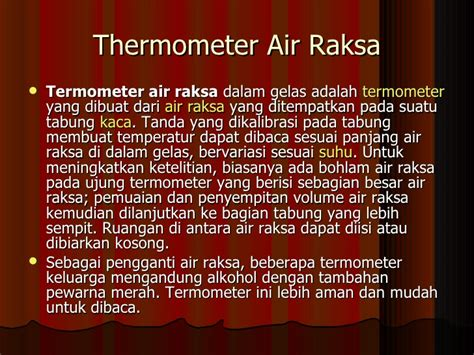 Termometer Air Raksa Safety p1 ranadi suhu