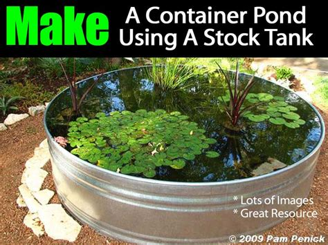 container pond   stock tank